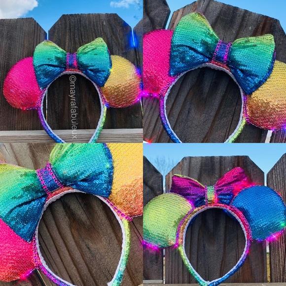 mayrafabuleux Accessories - Rainbow Minnie Ears, Pride Minnie Ears